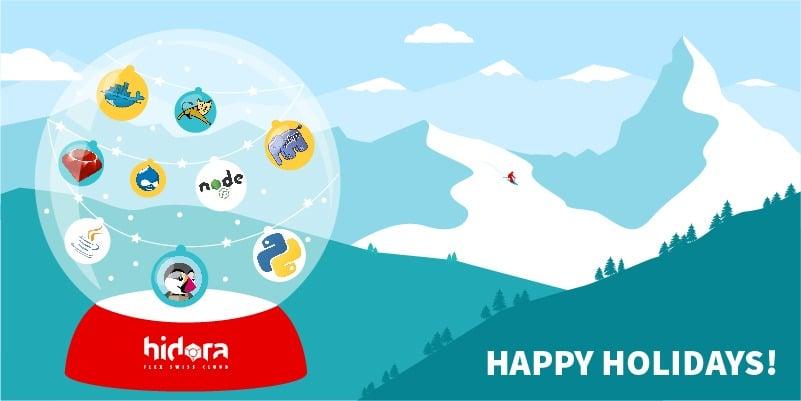 happy holidays from Hidora